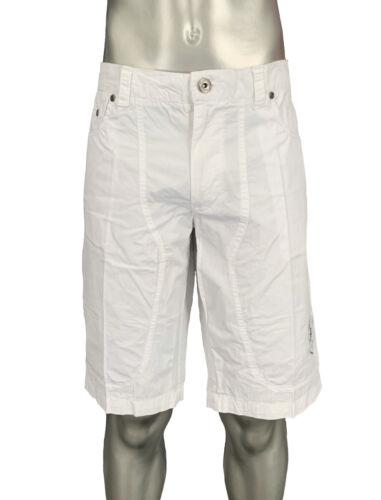 PANTALONE CORTO BERMUDA LOTTO uomo cotone bianco M8814 SCOTT WHITE