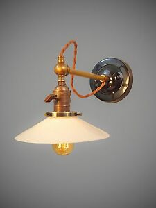 Image Is Loading Vintage Industrial Wall Sconce Machine Age Lamp W