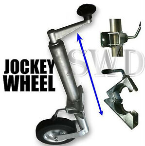 tow-Jockey-wheel-clamp-48mm-trailer-or-caravan-HEAVY-DUTY-horse-box-or-tent