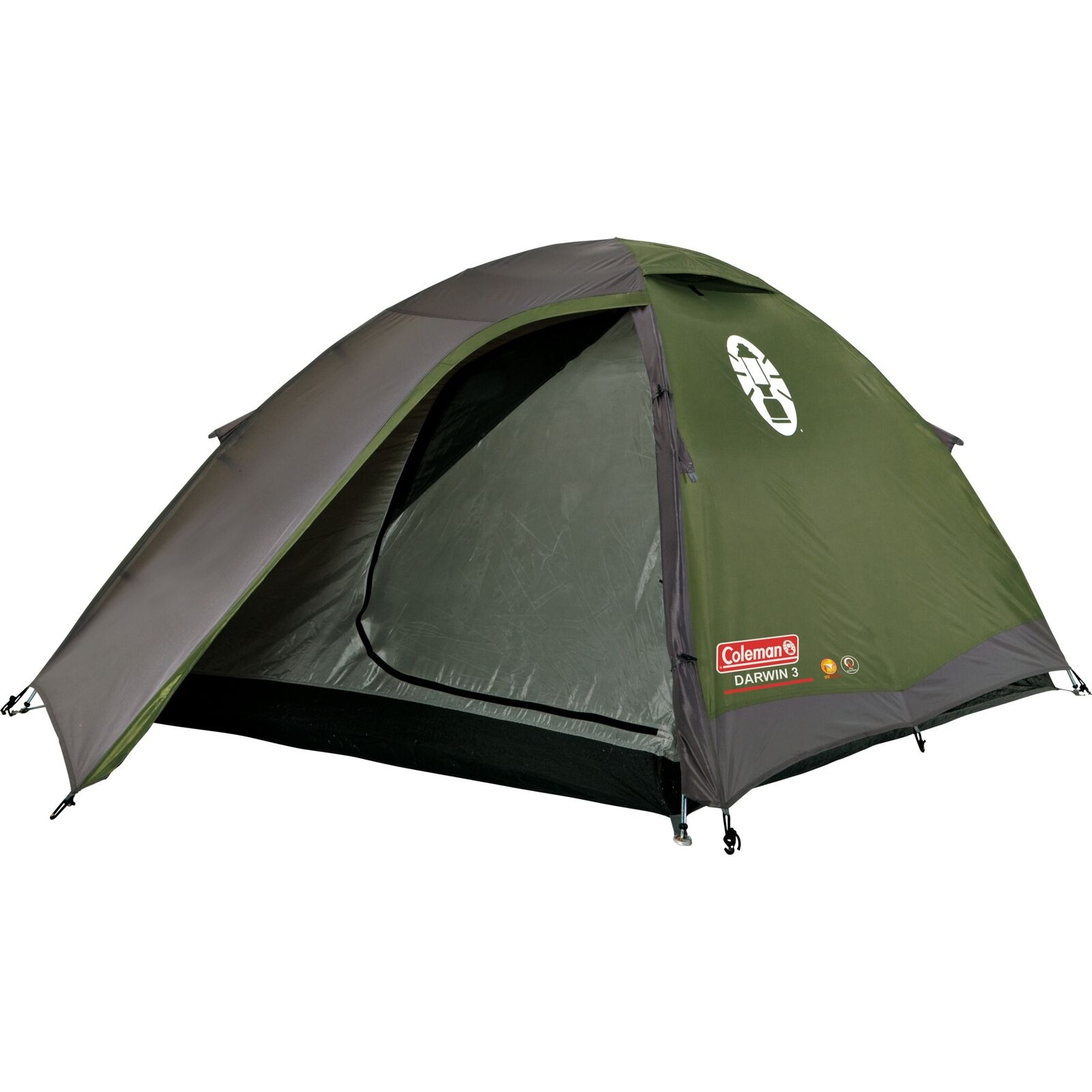 Coleman 3-Personen-Kuppelzelt DARWIN 3 Zelt dunkelgrün
