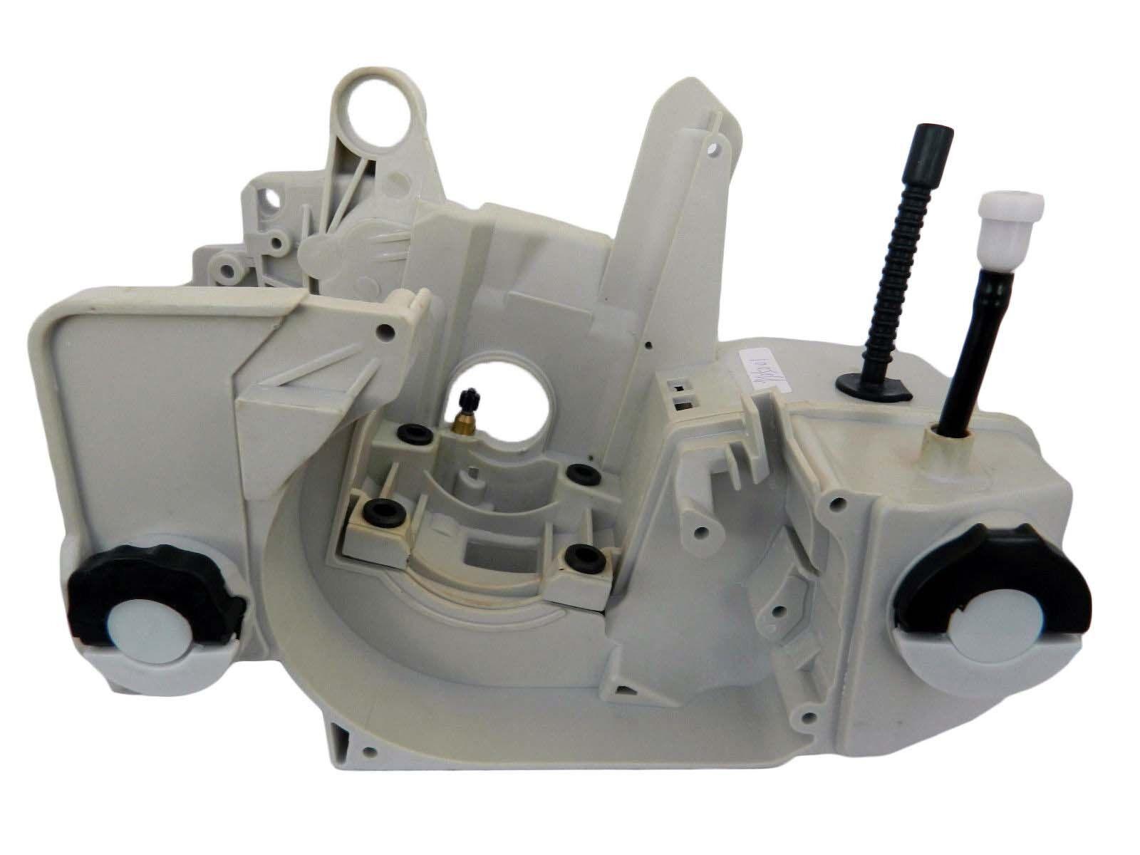 Compatible con Stihl MS210 MS230 MS250 021 023 025 Motor Cuna con aceite Tapa de combustible