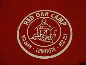 RED-OAK-CAMP-LOGO-T-Shirt-NWOT-Never-Worn-Fast-FREE-Shipping-Adult-size-Large
