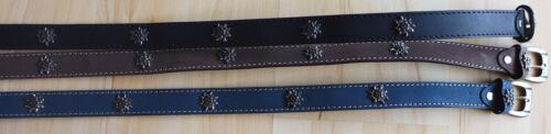 braun NEU!!! Damen Trachten Leder Gürtel mit Edelweiß verziert in schwarz blau