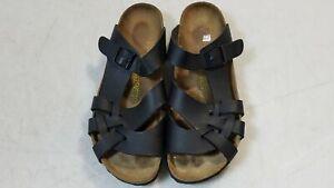 Birkenstock-Pisa-Black-Leather-Sandals-Women-039-s-42-11