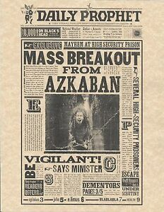 photograph relating to Harry Potter Daily Prophet Printable named Facts in excess of Harry Potter The Day by day Prophet M Breakout Towards Azkaban Flyer/Poster Duplicate
