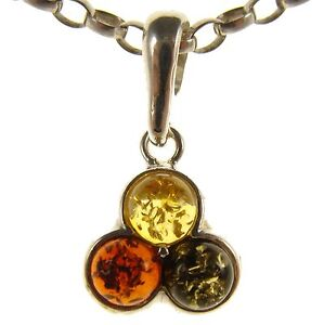 BALTIC-AMBER-STERLING-SILVER-925-ROUND-CIRCLE-PENDANT-NECKLACE-CHAIN-JEWELLERY