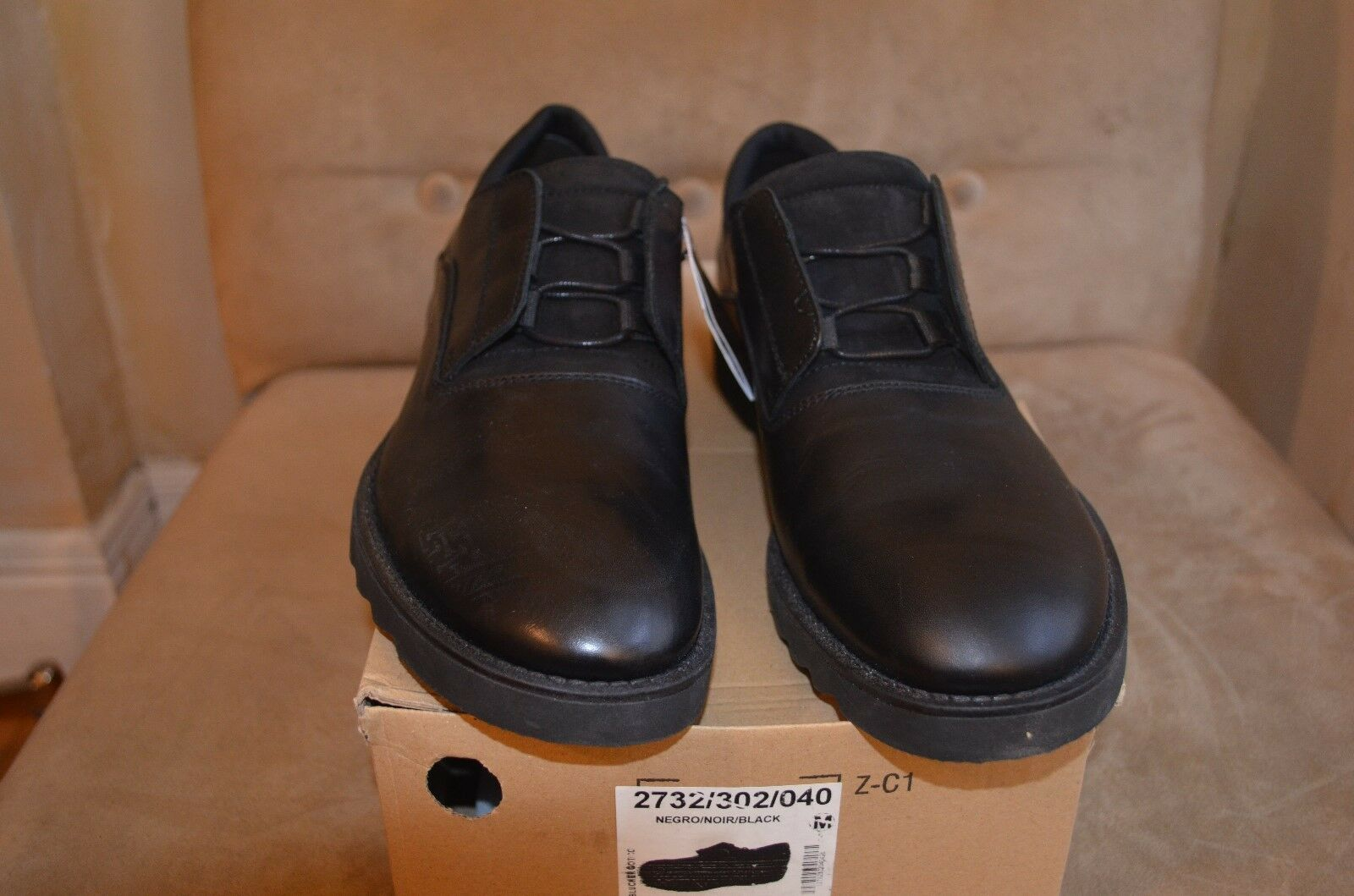 ZARA BLACK TAG TAG TAG SMOOTH LEATHER CONCEALED LACES blueCHERS DRESS CASUAL SHOES 9 42 b43c95