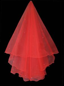 RED-BRIDAL-WEDDING-VEIL-WITH-RED-PEARLS-COMBLESS-BRAND-NEW-HIGH-QUALITY