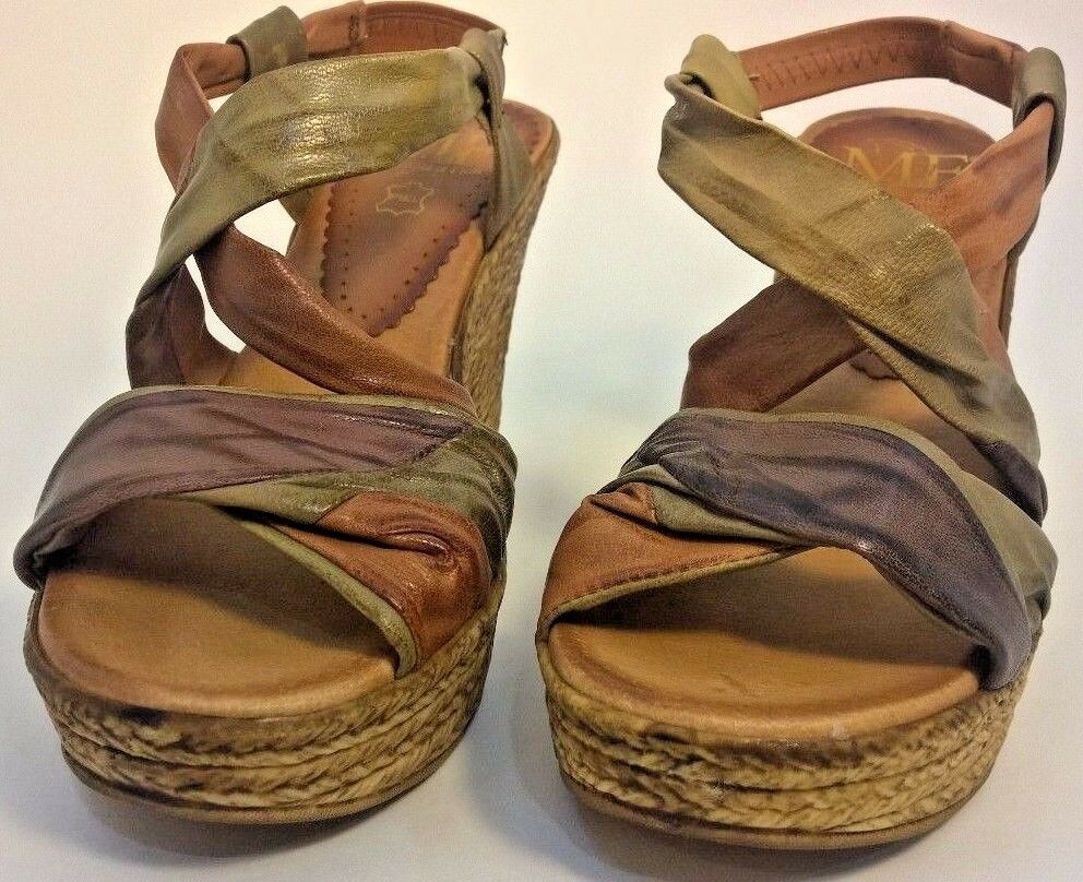 NEW Womens Mercante Di Fiori Leather Shoes, Brown  Size 35 EUR; 4 or 4 1/2 US