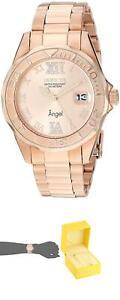Invicta-Women-039-S-14398-Angel-Analog-Swiss-Quartz-Rose-Gold-Watch