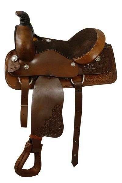 Círculo de 16  S Cuero Liso fqhb Roper silla  con garantía amarrar  cómodamente