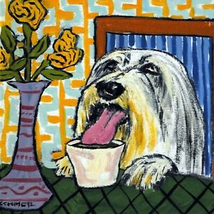 bearded-collie-at-the-coffee-shop-gift-animal-ceramic-dog-art-tile-coaster