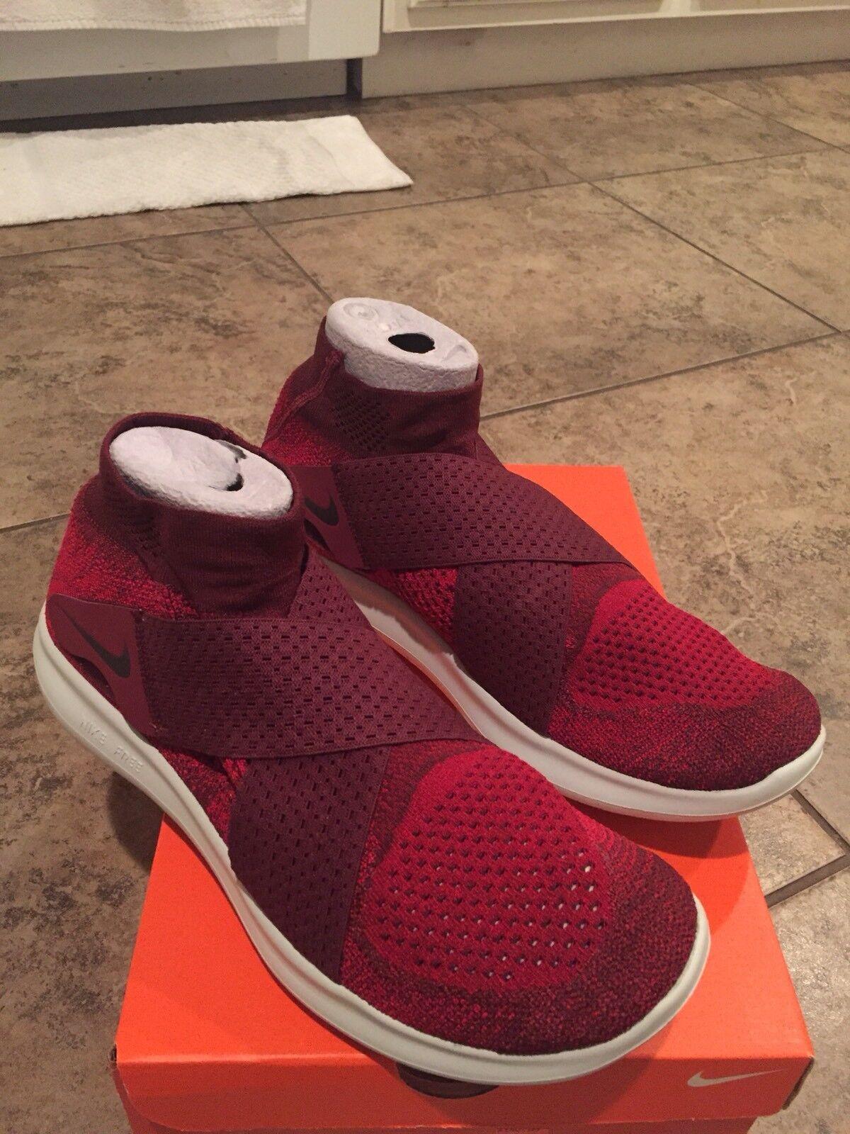 Nike Free RN Motion FK 2017 Flyknit TOUGH RED Men Running 880845-401 SZ 10.5