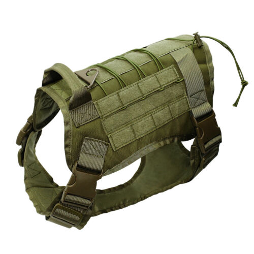 Tactical Military K9 Police Molle Dog Harness and Leash Set for Medium Large Dog