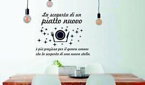 Dettagli su WALL STICKERS ADESIVO PARETE ADESIVI MURALI FRASI CUCINA  KITCHEN CASA HOME W12