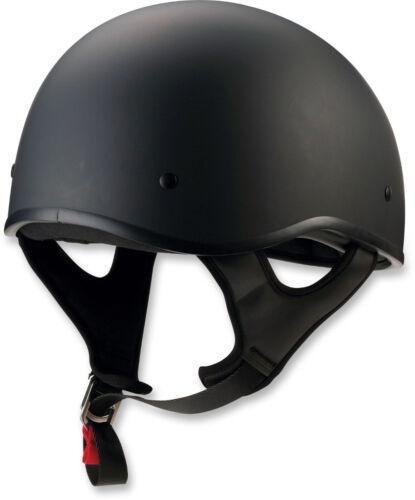 Z1R CC Beanie Motorcycle Half-Helmet Flat Black Choose Size