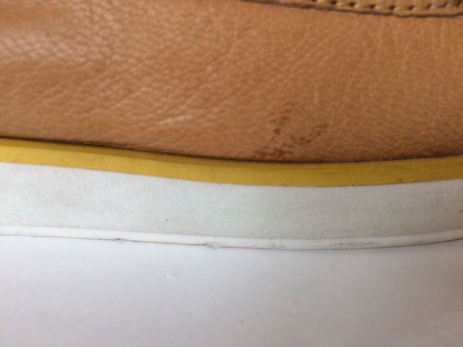 New BCBG Generation Classic Women Loafer Loafer Loafer Tan White Yellow Leather Light Sz 9 a35df7