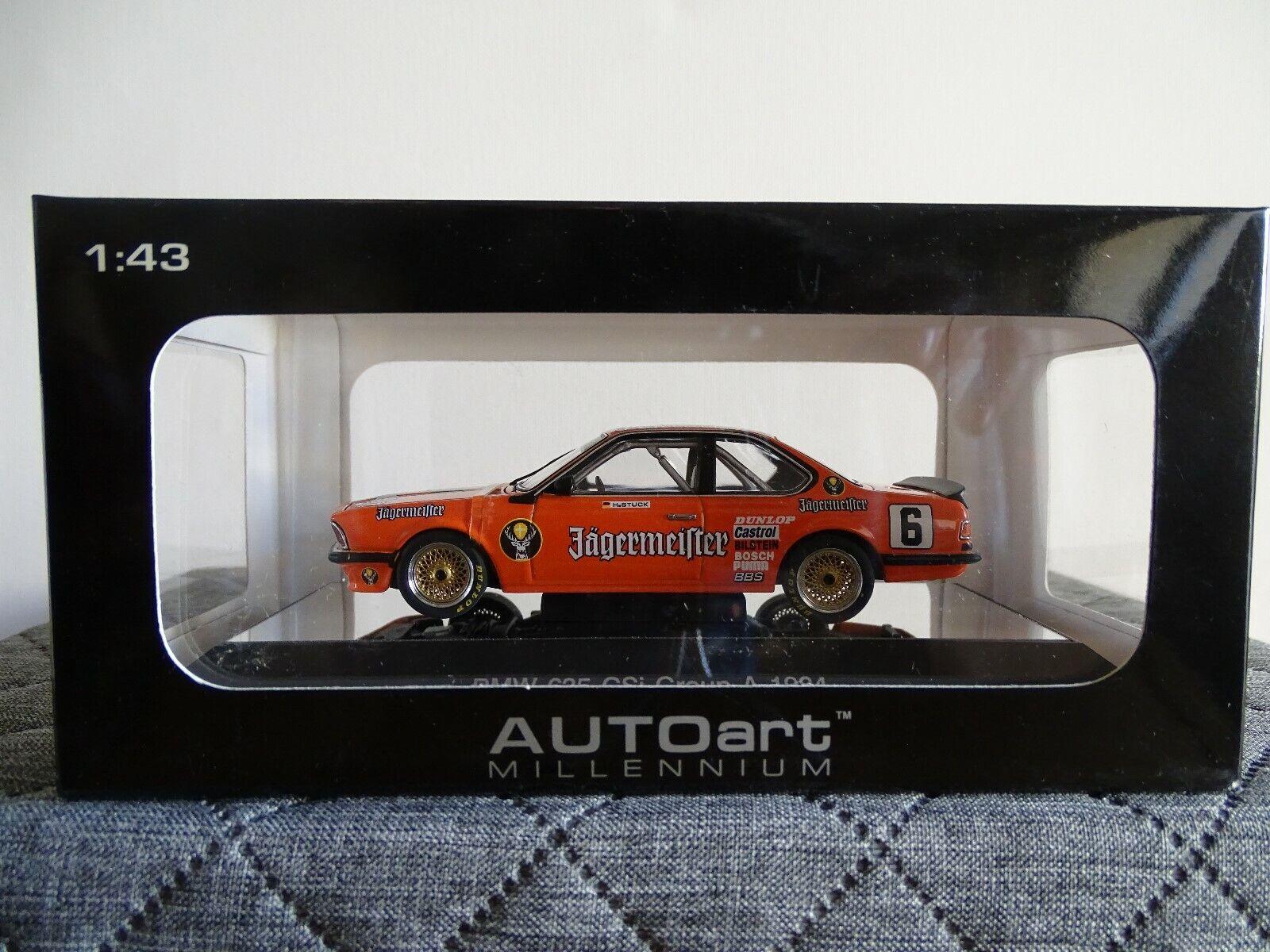 1 43 Autoart Millennium  68446 BMW 635 Csi Group A racing 1984  6 Jagermeister