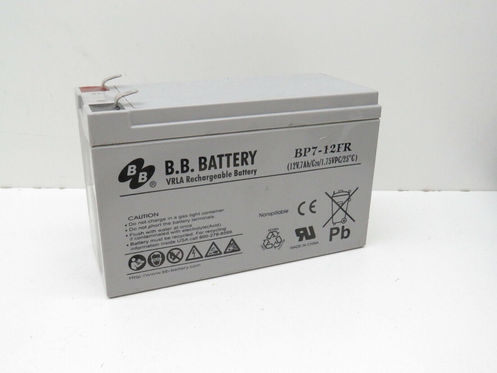 (6-Pack) B.B. Battery BP7-12FR Rechargeable VRLA Battery 12V 7Ah