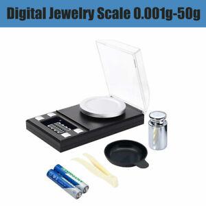 Mini-LED-Digital-Waage-Taschenwaage-Goldwaage-Feinwaage-Kuechenwaage-0-001g-50g