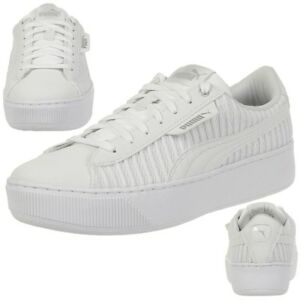 Detalles de Puma Vikky Plataforma Ep Q2 Zapatilla Deportiva Mujer Zapatos de Niña 366455 01