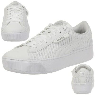 Puma Vikky Platform EP Q2 Sneaker Women's Girls' Shoes 366455 01 White | eBay
