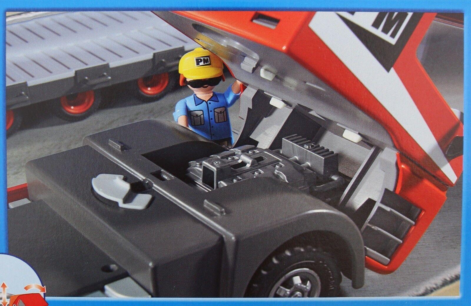 PLAYMOBIL 5467 Schwertransporter LKW Laster Laster Laster Baustelle Tieflader pastzu 5469 5468 de799e