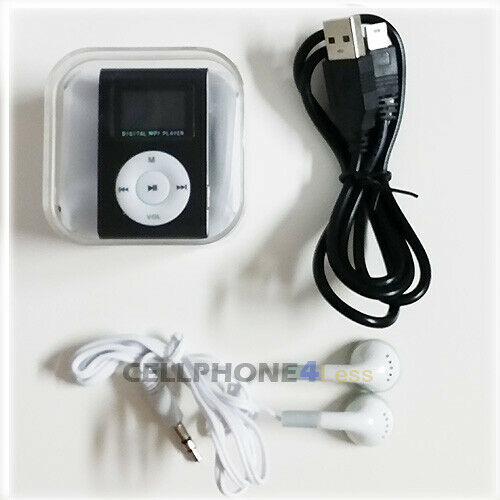 MP3 Music Player With Digital LCD Screen Mini Clip Support 32GB Micro SD TF
