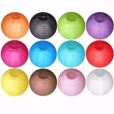 "10"" Round Ribbed Paper Chinese Lantern Decoration Party Wedding - 5, 10, 20 Pack"
