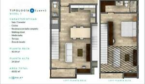 Balay Residencial, Pre-venta departamento Tipo A Loft (YR)