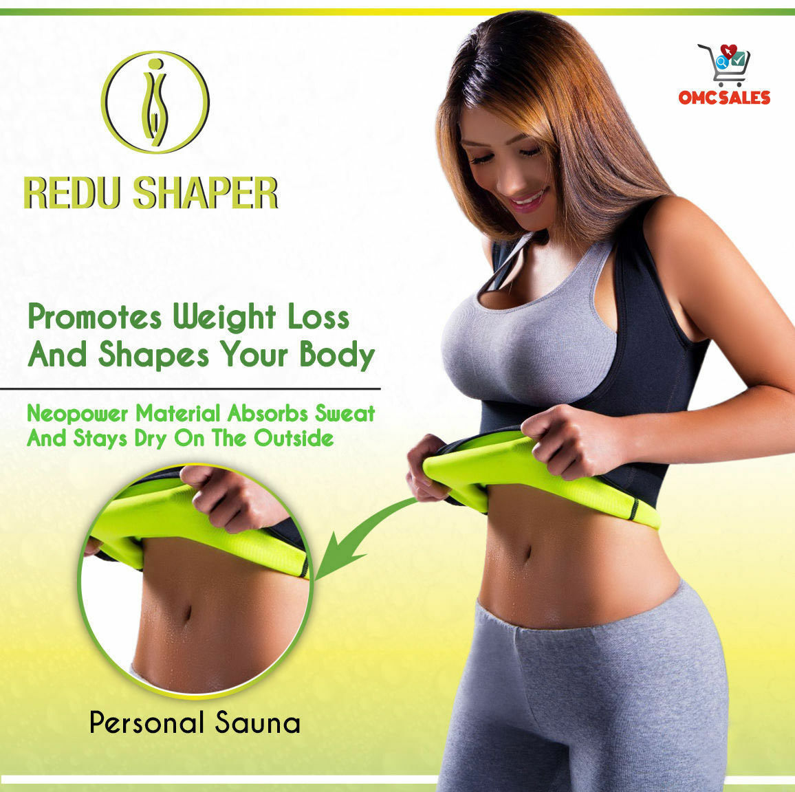 2 REDU SHAPER WOMEN SMALL, hot, redushaper, cami, osmotic, tecnomed