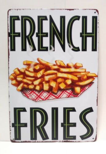 Fresh French Fries Vintage Sign Metal Tin Sign Home Kitchen Sign Business Sign