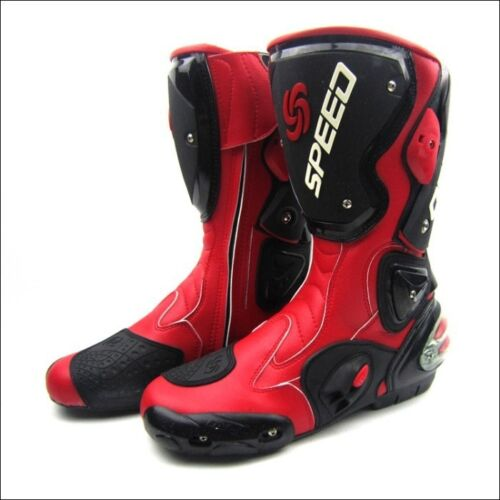 Speed Professional Mens Motocross Long Racing Boots Motorcycle Footwear Shoes