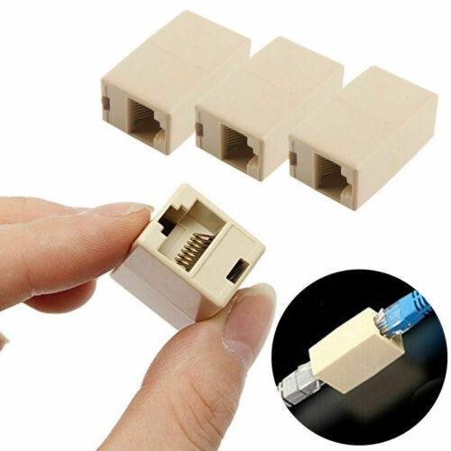 10X RJ45 CAT5E Network Ethernet Cable Adapter Coupler Extender Plug Connector