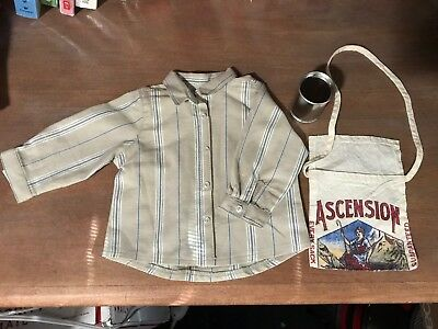 American Girl Kit tin can /& Ascension flour sack bag from Hobo outfit NWOB