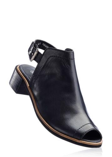 Confortable cuir orné dans le look décontracté en Noir-Taille 40-m608-915360