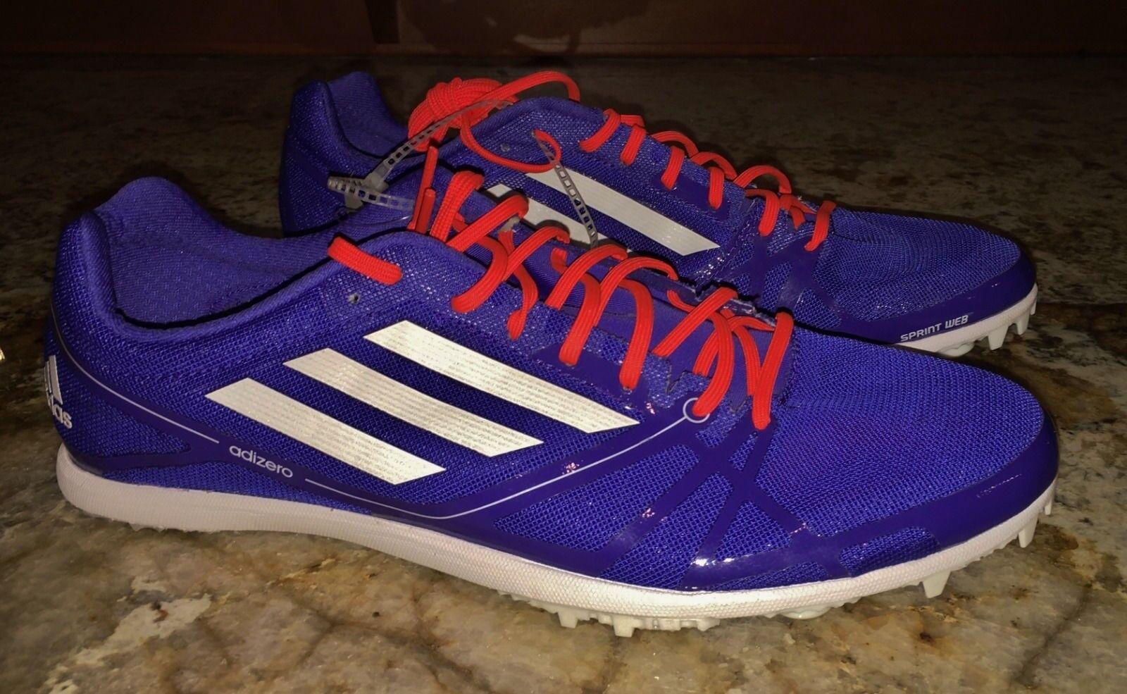 ADIDAS AdiZero Avanti 2 Distance Track Spike Shoes Night Blue New Men 10.5 12 13