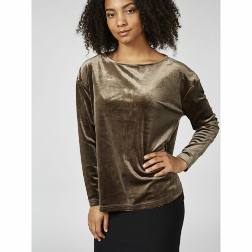 MarlaWynne WynneLayers velours Boxy Haut à manches longues marron taille XL