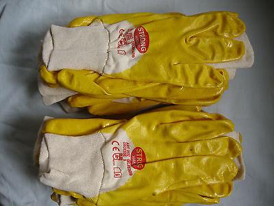Neue Mode 12 Paar 5 Finger Schutzhandschuhe Mit Nitrilbeschichtung Gr. 10 StäRkung Von Sehnen Und Knochen