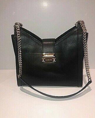 Michael Kors Whitney Small Chain Leather Shoulder Tote Black 30H8GWHEOL NWT 192877131939 | eBay