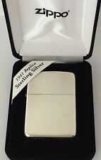Sterling SIlver Zippo Lighter, Satin Finish, #24, 1941 Replica, New In Box