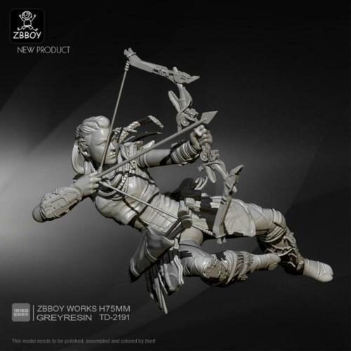 1:24 Resin Figure Kits Future Female Shooter Resin Soldier Scale Model 75mm Neu