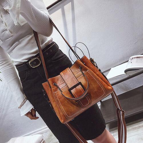 Women Vintage Handbag Shoulder Bags Tote Leather Boho Crossbody Purse Satchel JH