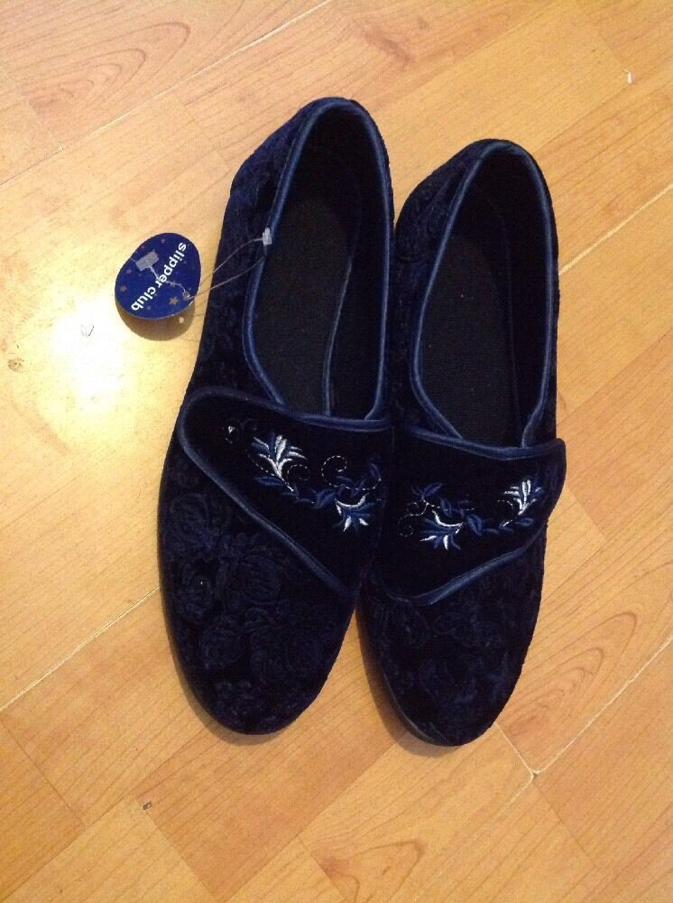 Ladies Slippers, Beautiful Size 5 Blue Slippers, Ladies New Shop Clearance b94f45