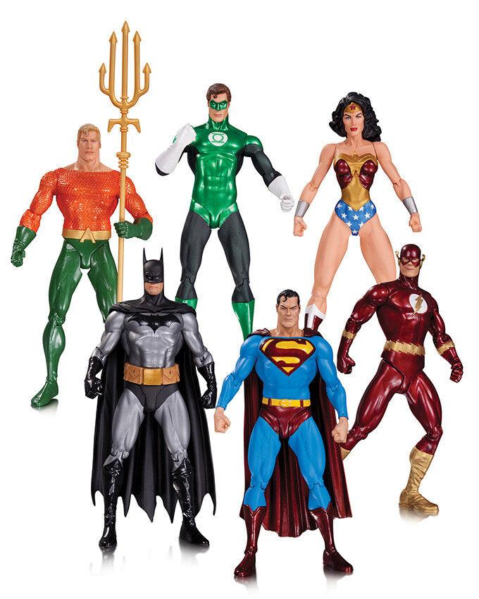 JUSTICE LEAGUE SUPERMAN BATMAN FLASH AQUAMAN Alex Ross 6 figuras PVC DC Direct