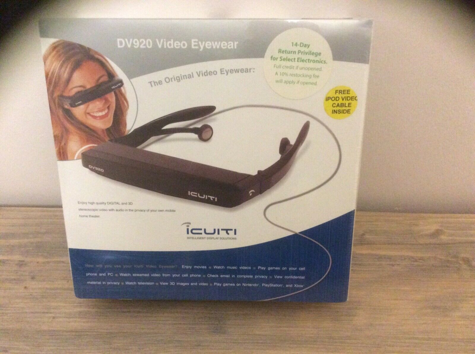 iCUITI DV920 Video Eyewear new unopened