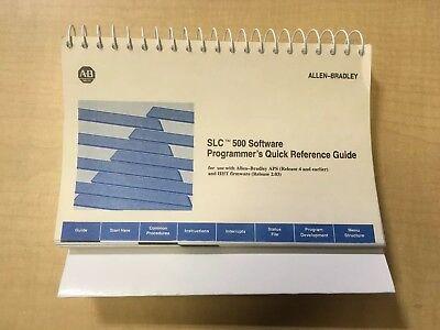 Briljant Allen Bradley Slc 500 Software Programmer's Quick Reference Guide Sterke Weerstand Tegen Hitte En Hard Dragen