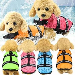 Dogs Life Jacket Buoyancy Aid Pet Safety Swimming Coats Suit Adjustable Vest