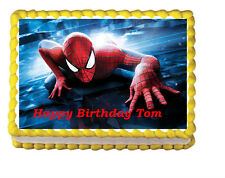 Spiderman Birthday Party Edible Image Cake Topper 1/4 sheet