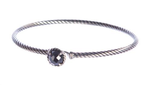 David Yurman femme chatelaine Bracelet avec Hematine 3 mm $350 nouveau